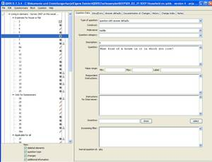Screenshot of QDDS with SOEP 2007, question 6 loaded